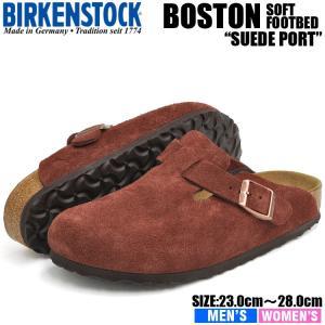ビルケンシュトック サンダル メンズ レディース ボストン ソフトフットベッド ポート BIRKENSTOCK BOSTON SOFT FOOTBED PORT 1011297 1011298|denpcy