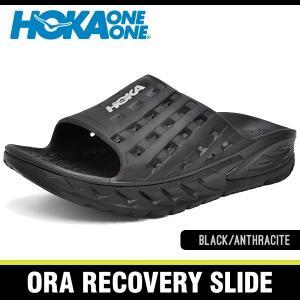 ホカオネオネ サンダル メンズ オラ リカバリー スライド ブラック/アンスラサイト HOKA ONE ONE ORA RECOVERY SLIDE BLACK/ANTHRACITE 1014864-BANT|denpcy