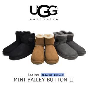 アグ ブーツ ウィメンズ ミニ ベイリーボタン II ブラック/チェスナット/グレー UGG MINI BAILEY BUTTON II BLACK/CHESTNUT/GREY 1016422|denpcy
