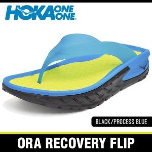 ホカオネオネ サンダル オラ リカバリー フリップ ブラック/プロセスブルー HOKA ONE ONE ORA RECOVERY FLIP BLACK/PROCESS BLUE 1018352-BPSB|denpcy