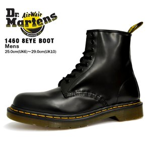 ドクターマーチン 8ホール メンズ 1460 ブーツ ブラック Dr. Martens 1460 8HOLE BOOT BLACK 11822006|denpcy