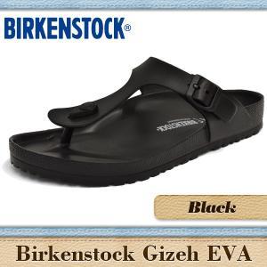 ビルケンシュトック サンダル メンズ レディース ギゼ エバ ブラック BIRKENSTOCK GIZEH EVA BLACK 128201|denpcy