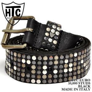 HTC 10,000 スタッズ ベルト ブラック Hollywood Trading Company 10,000 STUDS BELT BLACK|denpcy
