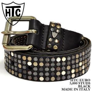 HTC 5,000 スタッズ クラシック ベルト ブラック Hollywood Trading Company 5,000 STUDS CLASSIC BELT|denpcy