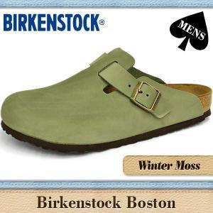 ビルケンシュトック サンダル メンズ ボストン 通常幅 ウインター モス ヌバック BIRKENSTOCK BOSTON 159941|denpcy