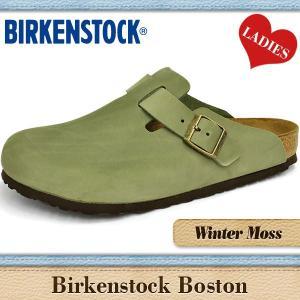 ビルケンシュトック サンダル レディース ボストン 通常幅 ウインター モス ヌバック BIRKENSTOCK BOSTON 159941|denpcy