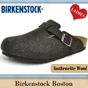 ビルケンシュトック サンダル レディース ボストン アンスラサイト ウール BIRKENSTOCK BOSTON WOOL 160371 denpcy