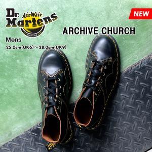ドクターマーチン 5ホール アーカイブ チャーチ モンキーブーツ メンズ ブラック Dr.Martens ARCHIVE CHURCH BLACK 16054001 denpcy
