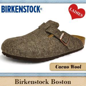 ビルケンシュトック サンダル レディース ボストン カカオ ウール BIRKENSTOCK BOSTON CACAO WOOL 160581|denpcy