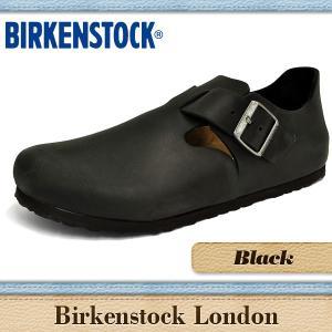 ビルケンシュトック サンダル メンズ ロンドン ブラック BIRKENSTOCK LONDON BLACK 166541|denpcy