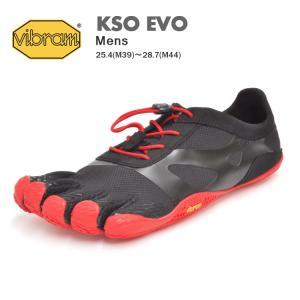 ビブラム ファイブフィンガーズ シューズ メンズ ケイエスオー エボ ブラック/レッド Vibram FiveFingers KSO EVO BLACK/RED 18M0701 denpcy