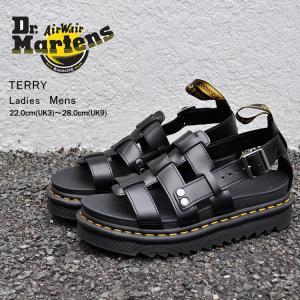 ドクターマーチン サンダル レディース メンズ テリー ブラック Dr.Martens TERRY BLACK BRANDO 23521001|denpcy