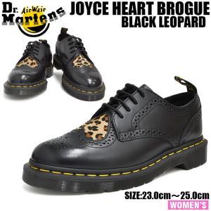 ドクターマーチン ジョイス ハート ブラック+ミディアム レオパード Dr.Martens JOYCE HRT BROGUE SHOE BLACK + MEDIUM LEOPARD 23798001|denpcy