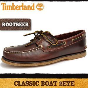 ティンバーランド クラシック 2アイ ボート ルートビア Timberland CLASSIC 2EYE BOAT|denpcy
