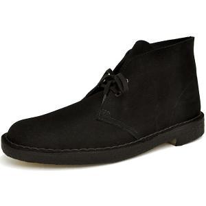 クラークス ブーツ メンズ デザートブーツ ブラック スエード G(スタンダード)ワイズ Clarks DESERT BOOT BLACK SUEDE G(STANDARD) 26107882|denpcy