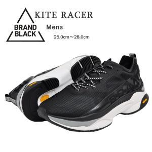 ブランドブラック カイトレーサー スニーカー メンズ ブラック/ホワイト BRANDBLACK KITE RACER BLACK/WHITE 427BB-BKW|denpcy
