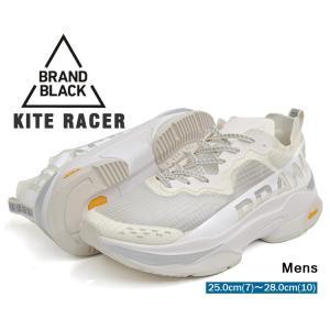 ブランドブラック カイトレーサー ダッドスニーカー メンズ ホワイト BRANDBLACK KITE RACER WHITE 427BB-WHT|denpcy