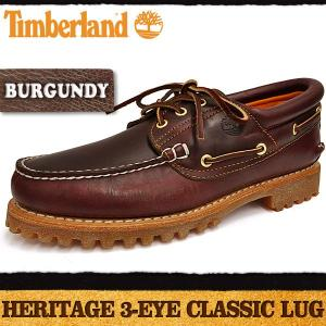ティンバーランド ヘリテージ 3-アイ クラシック ラグ バーガンディー Timberland Heritage 3-Eye Classic Lug Burgundy|denpcy