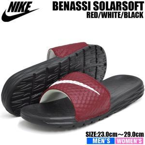 ナイキ ベナッシ ソーラーソフト スライド2 シャワーサンダル メンズ レディース レッド/ホワイト/ブラック NIKE BENASSI SOLARSOFT SLIDE2 705474-602|denpcy