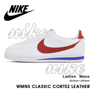 ナイキ コルテッツ レザー スニーカー メンズ レディース ホワイト/バーシティレッド NIKE WMNS CLASSIC CORTEZ LEATHER WHITE/VARSITY RED 807471-103|denpcy
