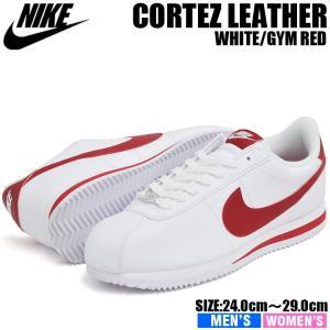 ナイキ コルテッツ レザースニーカー メンズ レディース ホワイト/ジムレッド NIKE CORTEZ BASIC LEATHER WHITE/GYM RED 819719-101|denpcy