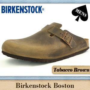 ビルケンシュトック サンダル メンズ ボストン 通常幅 タバコブラウン オイルレザー BIRKENSTOCK BOSTON Tabaco 960811 denpcy