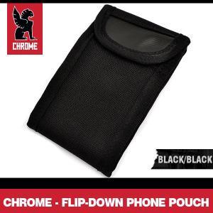 クローム フリップ-ダウン フォン ポーチ ブラック/ブラック CHROME Flip-Down Phone Pouch Black/Black|denpcy