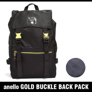 アネロ バッグ ゴールド バックル バック パック anello GOLD BUCKLE BACK PACK AT-B1493|denpcy