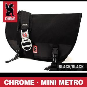 クローム バッグ ミニメトロ ブラック/ブラック/シルバーバックル CHROME Mini Metro Black/Black/Silver Buckle BG-001-BKBK-2R-NA|denpcy