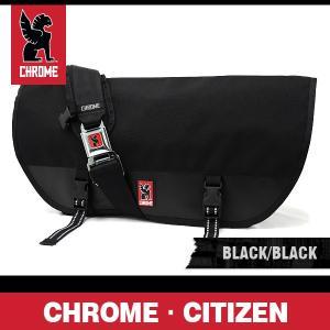 クローム バッグ シチズン ブラック/ブラック/シルバーバックル CHROME Citizen Black/Black/Silver Buckle BG-002-BKBK-102-NA|denpcy