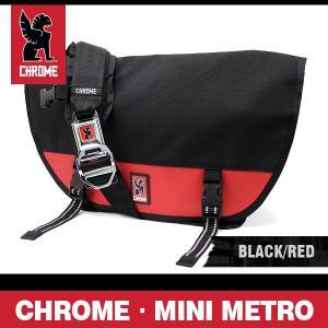 クローム バッグ ミニメトロ ブラック/レッド/シルバーバックル CHROME MINI METRO BLACK/RED/SILVER BUCKLE BG-001-BKRD-2R-NA|denpcy