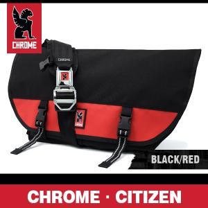 クローム バッグ シチズン ブラック/レッド/シルバーバックル CHROME Citizen Black/Red/Silver Buckle BG-002-BKRD-102-NA|denpcy