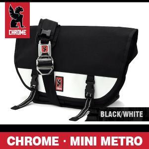 クローム バッグ ミニメトロ ブラック/ホワイト/シルバーバックル CHROME Mini Metro Black/White/Sivler Buckle BG-001-BKWT-101-NA|denpcy