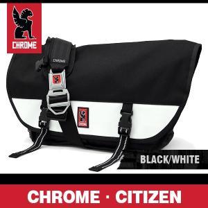 クローム バッグ シチズン ブラック/ホワイト/シルバーバックル CHROME Citizen Black/White/Silver Buckle BG-002-BKWT-102-NA|denpcy