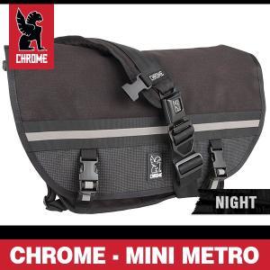 クローム バッグ ミニメトロ ナイトシリーズ ブラック/ブラックバックル CHROME Mini Metro Night BG-001-NITE-101-NA|denpcy