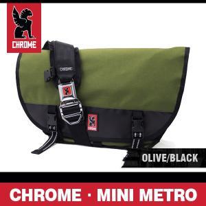クローム バッグ ミニメトロ オリーブ/ブラック/シルバーバックル CHROME Mini Metro Olive/Black/Silver Buckle BG-001-OLBK-101-NA|denpcy