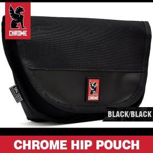 クローム ヒップポーチ ブラック/ブラック ヒップ バッグ CHROME HIP POUCH BLACK/BLACK|denpcy
