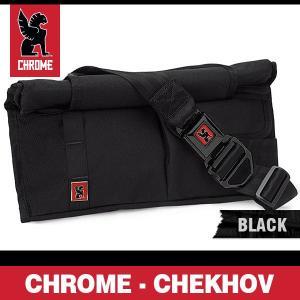 クローム チェーホフ ブラック/ブラックバックル (黒) 左かけ ユーティリティバッグ (ボディバッグ) CHROME CHEKHOV BLACK|denpcy