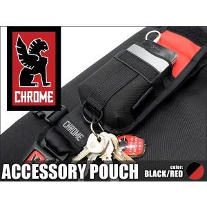 クローム アクセサリーポーチ ブラック/レッド CHROME Accessory Pouch Black/Red|denpcy