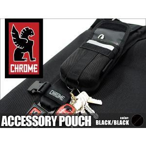 クローム アクセサリーポーチ ブラック CHROME Accessory Pouch Black|denpcy