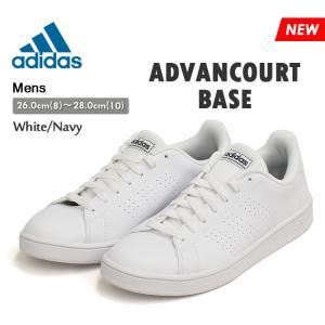 アディダス アドンバンテージ ベース スニーカー メンズ ホワイト/ネイビー adidas ADVANCOURT BASE EE7691 denpcy