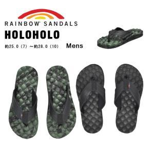 レインボーサンダルズ サンダル メンズ ホロホロ ブラック グリーン/ブラック RAINBOW SANDALS HOLOHOLO BLACK GREEN/BLACK|denpcy
