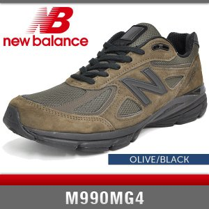 ニューバランス スニーカー メンズ M990MG4 オリーブ/ブラック Dワイズ New Balance OLIVE/BLACK MADE IN USA denpcy