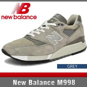 ニューバランス スニーカー メンズ M998 Dワイズ グレー New Balance M998 GREY MADE IN USA|denpcy