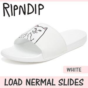 リップンディップ サンダル メンズ レディース ロード ナーマル スライド ホワイト RIPNDIP LOAD NERMAL SLIDES WHITE RND138|denpcy