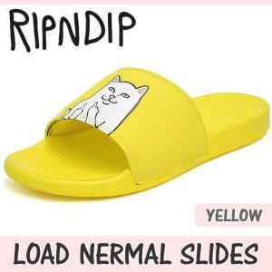リップンディップ サンダル メンズ レディース ロード ナーマル スライド イエロー RIPNDIP LOAD NERMAL SLIDES YELLOW RND139|denpcy