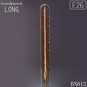 細長いレトロ電球 直管フィラメントE26 40w 型番BL012-INAZUMA-LONG|denraiasia