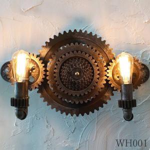 機械文明に登場しそうな壁 ブラケットライト レトロ アンティーク 照明 スチームパンク カフェ 壁掛け 歯車 ウォール ランプ WH001|denraiasia