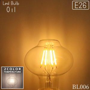 LED 2200K(ケルビン) オイル型電球 6W(30W相当) 型番BL006 でんらい|denraiasia