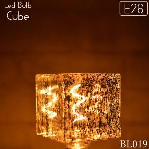 LED 2200K(ケルビン) キューブ型電球 4W 調光可能 E26口金 BL019-CUBE|denraiasia